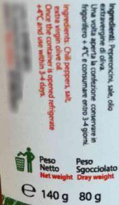 Peperoncino sott'olio (Terre di Pianella) 2