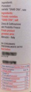 Passata pomodori pera d'Abruzzo (Terre di Pianella) 0,66 L 3