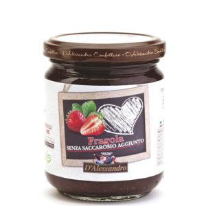 Confettura di fragole senza saccarosio aggiunto